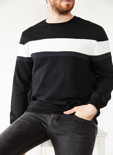 XHAN Sweatshirt Siyah